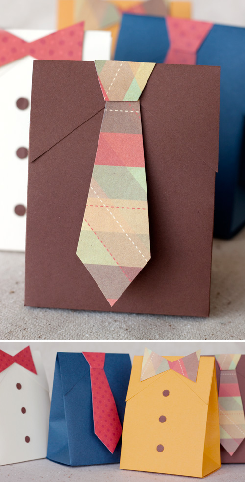 Father's Day Shirt & Tie Gift Boxes - Paper Crave