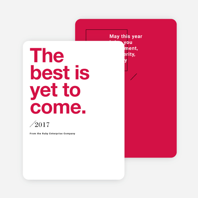 Bold Wishes Corporate New Year Cards Paper Culture