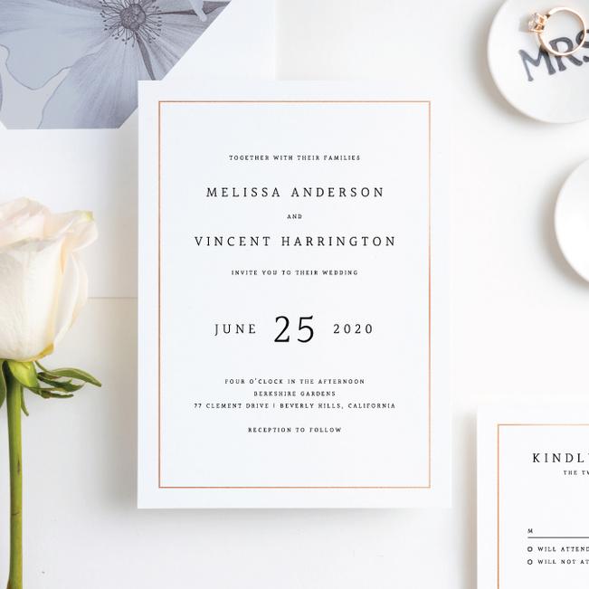 Modern Meets Vintage Wedding Invitation Suites Paper Culture