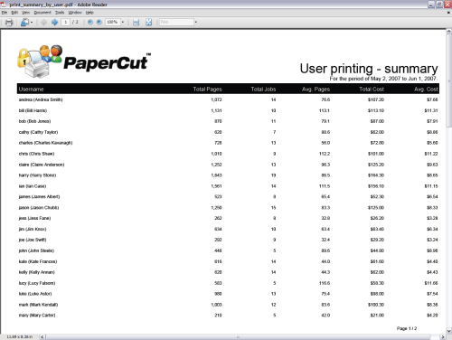 small resolution of report user printing summary
