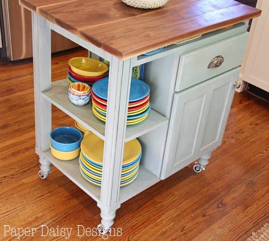 DIY Kitchen Island Cart