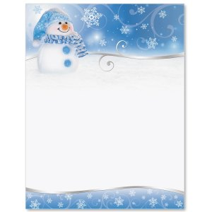 Snowman Border Papers PaperDirects