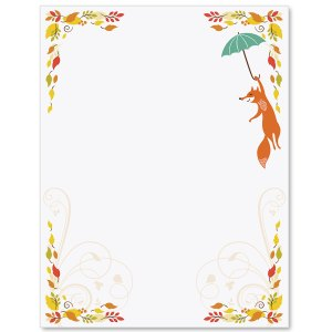 Fall Fox Border Papers PaperDirects