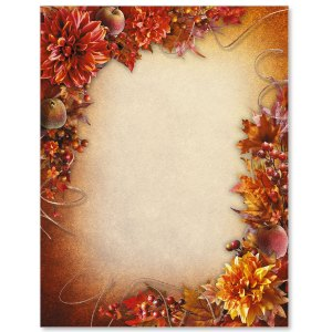 Fancy Foliage Border Papers PaperDirect's