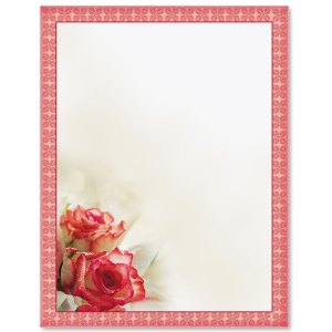 Sentimental Roses Border Papers PaperDirects