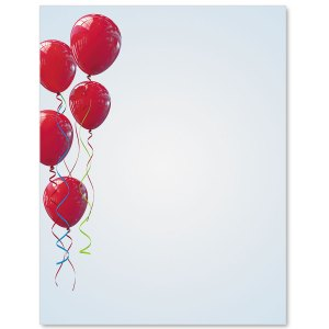 Red Balloons Border Papers PaperDirects