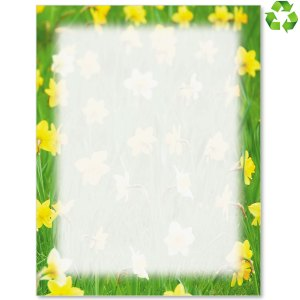 Spring Daffodils Border Papers PaperDirects