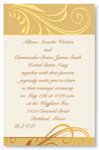 Wedding Invitation Wording For Military Titles