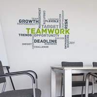 Paperflow Office Deco Wall Transfers, Teamwork 25 x 18 ...