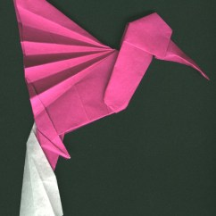 Star Flower Origami Diagram Worm Labeled Diagrams Hummingbird By Collin Weber