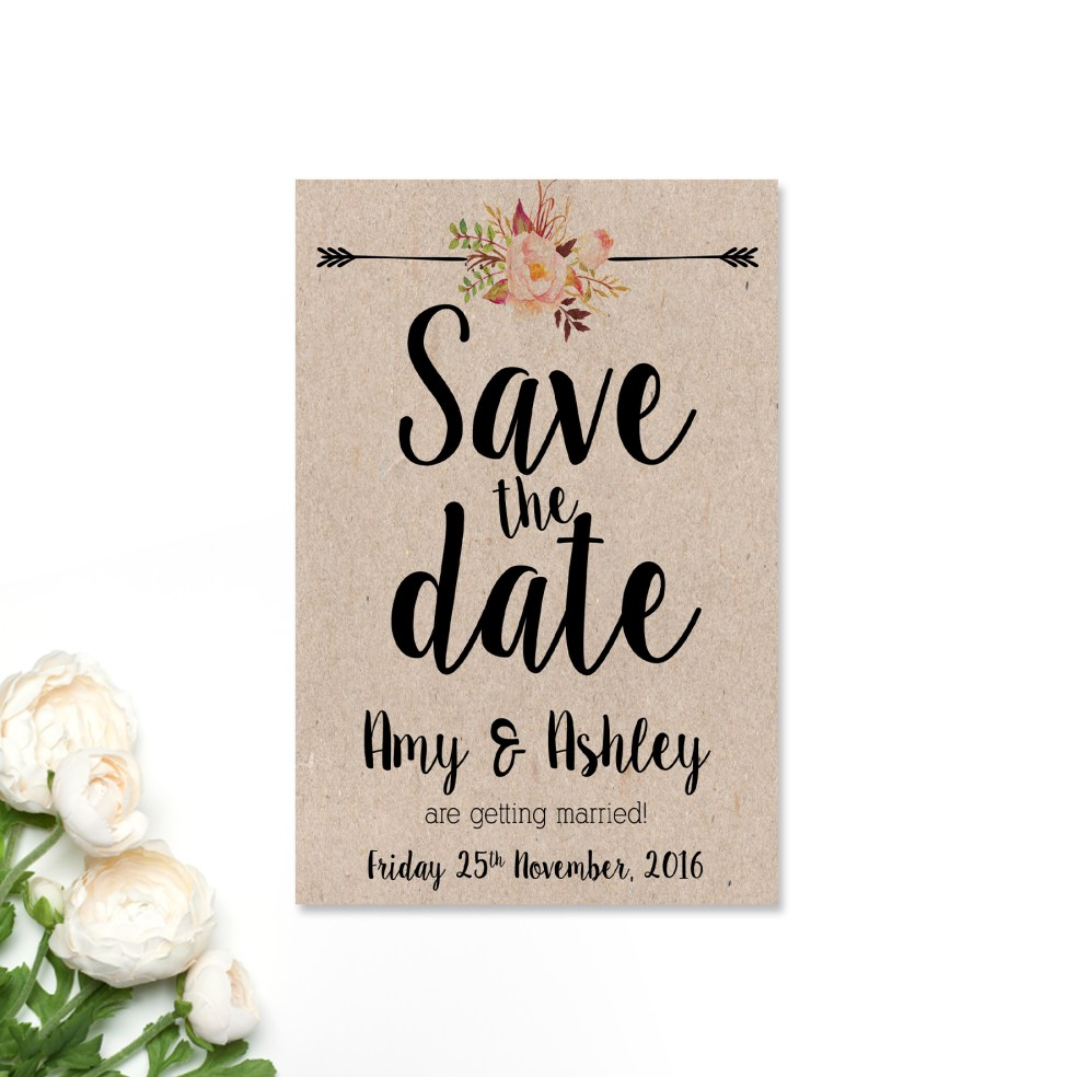 Amy + Ashley Save the Date Card