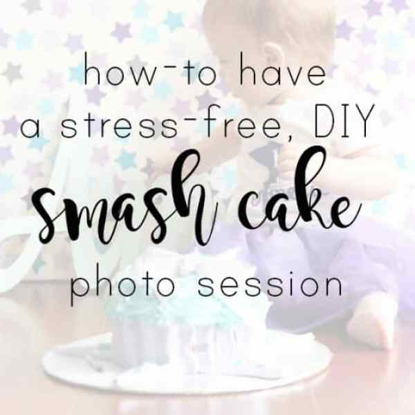 A Stress Free DIY Smash Cake Photo Session