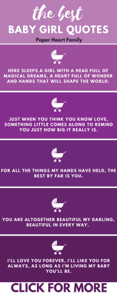 These are the best of the best baby girl quotes for the nursery or baby book. So many of these quotes are perfect for my daughter!