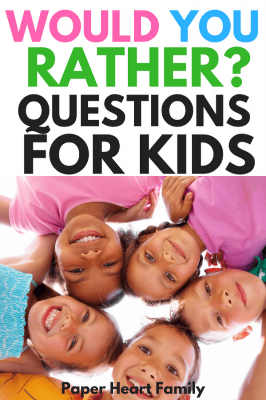 funny would you rather questions for kids