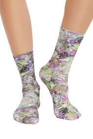 Free People Stole the show printed sock green combo - acc33294-gn