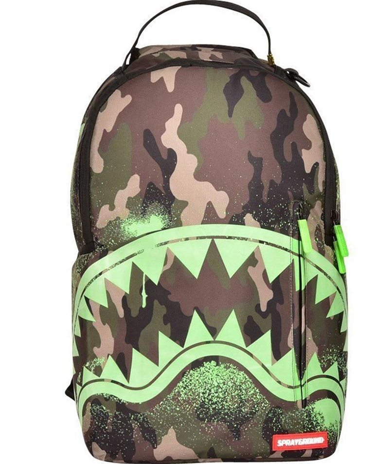 Sprayground backpack camo glow in the shark