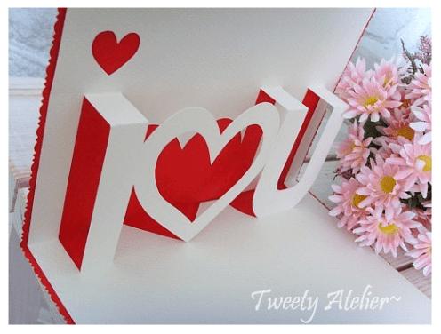 Pop up card tutorial – Valentines day