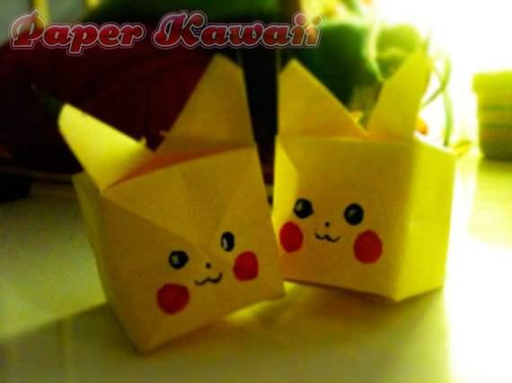Pikachu Origami Cube