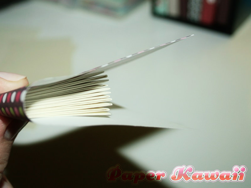 Take the clip off the pages and wrap the cover around them.