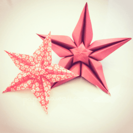 Origami star flower video tutorial
