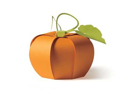 Free Papercraft Halloween Pumpkin Template via @paper_kawaii