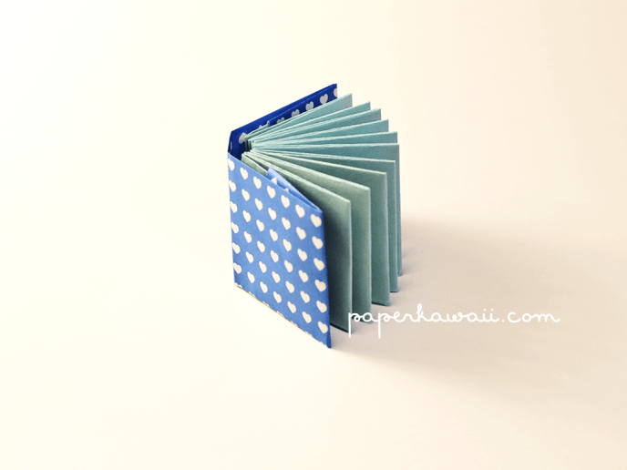 Mini modular origami book tutorial via @paper_kawaii