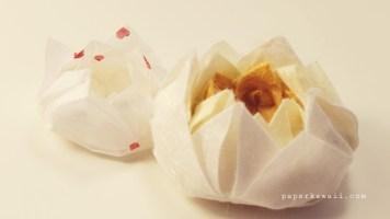 Easy origami lotus tutorial 04