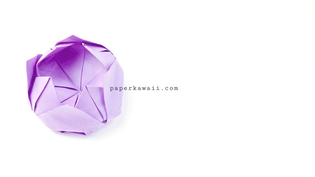 Easy Origami Lotus Video Tutorial via @paper_kawaii