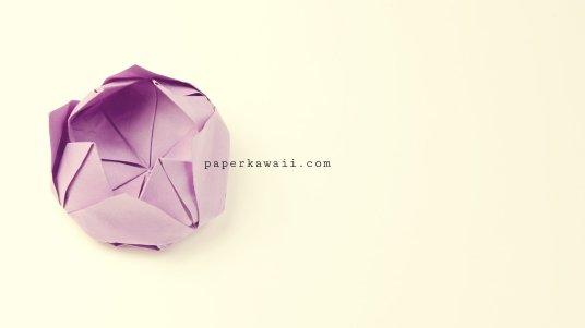 Easy origami lotus tutorial 06