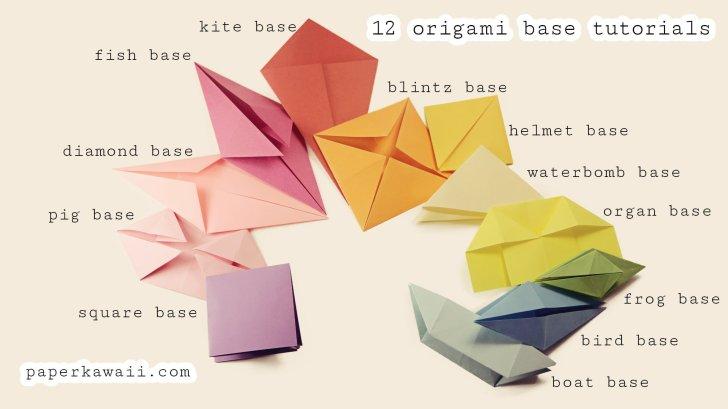 Origami Base Folds for beginners via @paper_kawaii