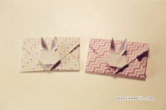 Origami Bunny Rabbit Envelope Tutorial V2 via @paper_kawaii