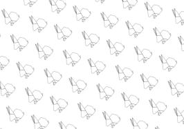 origami-bunny-rabbits-pattern-paperkawaii