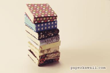 modular mini origami book video tutorial paperkawaii