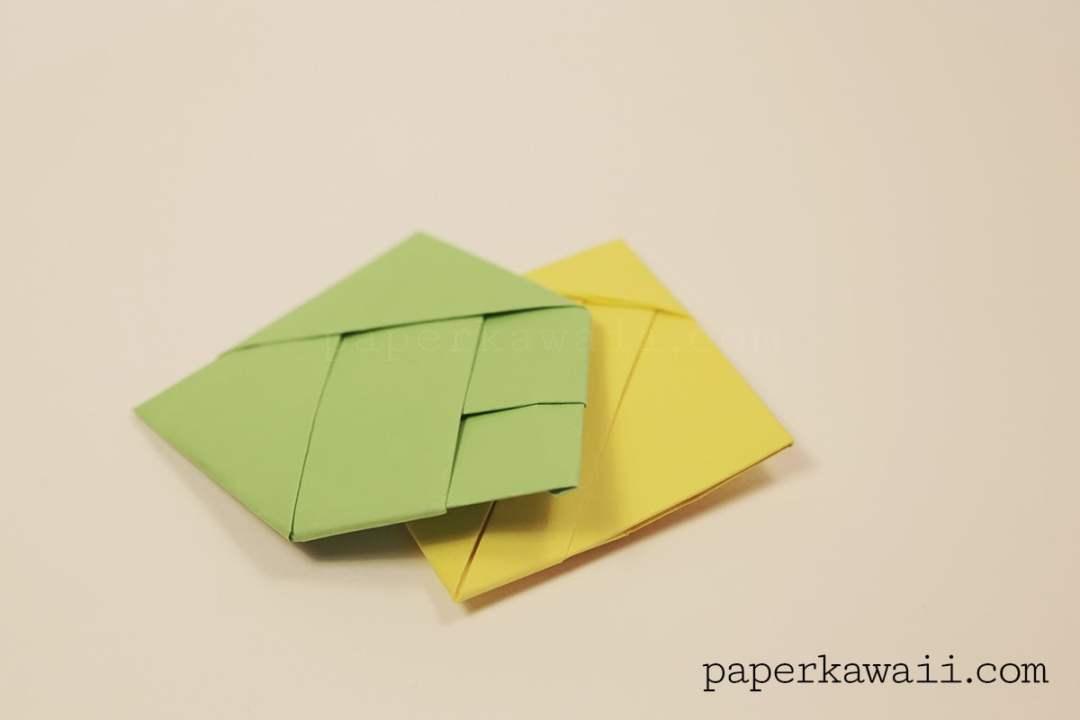 Origami Square Letter Fold Tutorial via @paper_kawaii