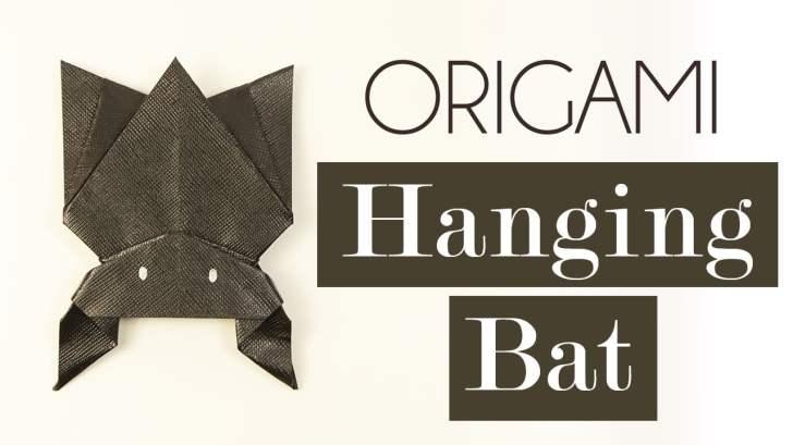 Hanging Origami Bat for Halloween! via @paper_kawaii