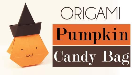 Origami Pumpkin Bag - Halloween Video Tutorial via @paper_kawaii