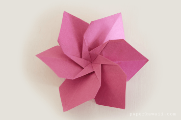 Origami Flowers by LaFosse & Alexander - Book Review via @paper_kawaii