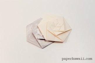 Origami Hexagonal Envelope / Pouch - Video Tutorial via @paper_kawaii