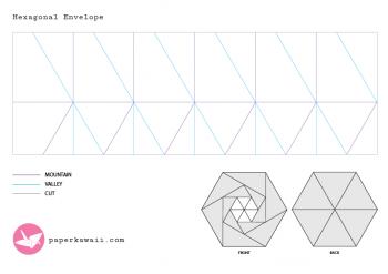 paperkawaii-free-crease-pattern-hexagon-envelope