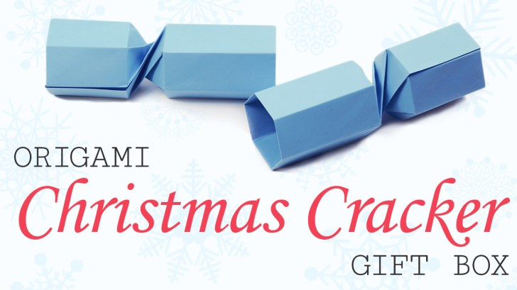 Origami Christmas Cracker Video Tutorial via @paper_kawaii