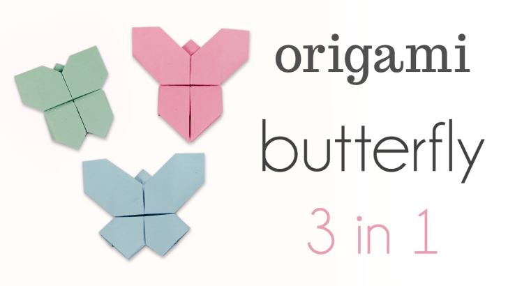Origami Butterfly Tutorial 3 in 1 via @paper_kawaii