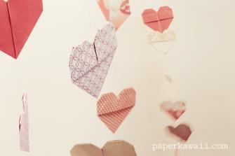 Origami Double Sided Heart Video Tutorial via @paper_kawaii