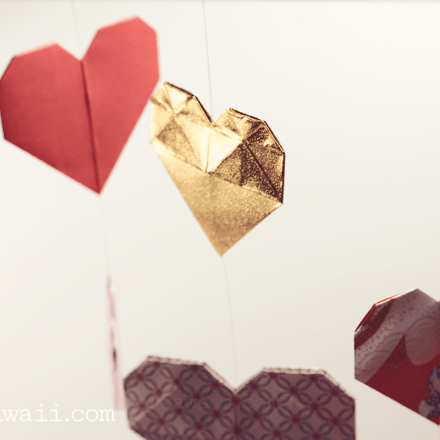Origami Heart With Wings Video Tutorial via @paper_kawaii