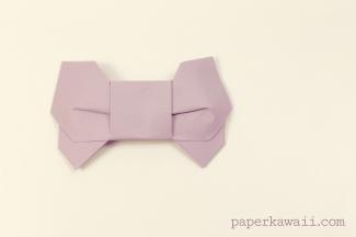 Origami 3D Bow Video Tutorial via @paper_kawaii