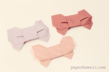 Origami 3D Bow Video Tutorial