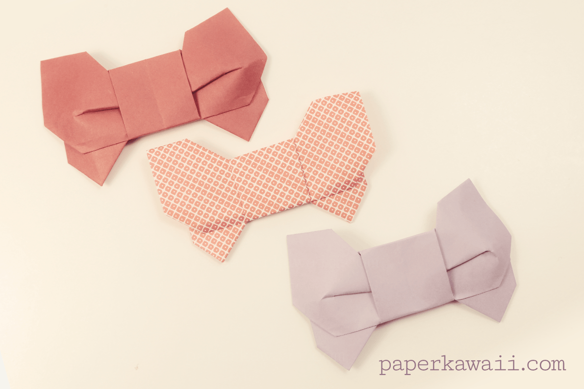 moving origami: how to make an origami bow tie step by step | 800x1200