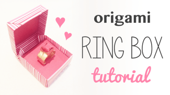 Origami Ring Box for Valentine's Day via @paper_kawaii
