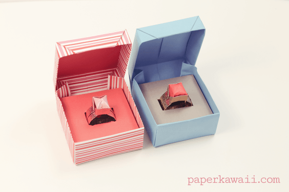 Origami Box with Lid + Ring Gift
