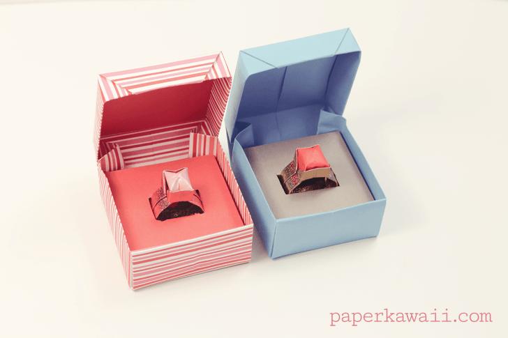 Origami Ring Box Tutorial via @paper_kawaii