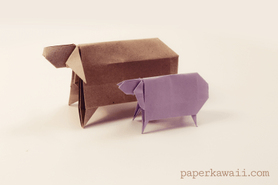 Origami Sheep For Chinese New Year